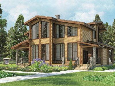 деревянные дома из бруса фото