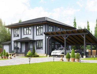 деревянный дом размеры