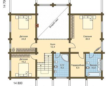 деревянный конструктор дом