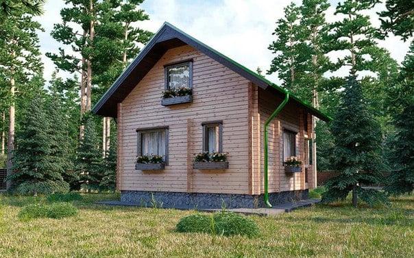 дом профилированного бруса