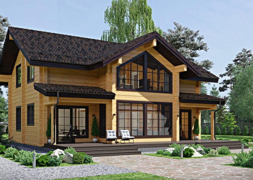 готовые дома из бруса