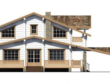 красный деревянный дом