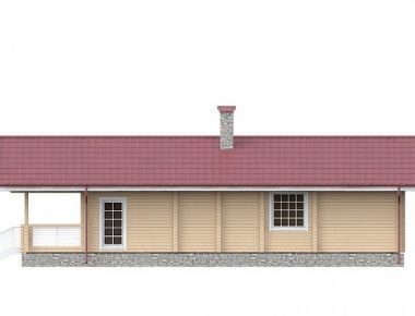 одноэтажные дома из бруса под ключ цены
