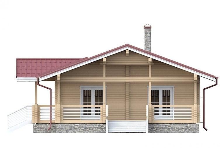 одноэтажный дом из бруса проекты и цены