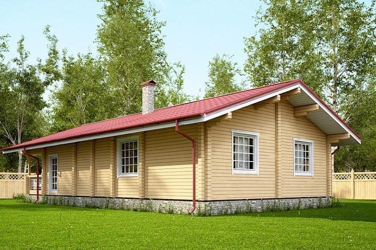 проекты одноэтажных домов из бруса