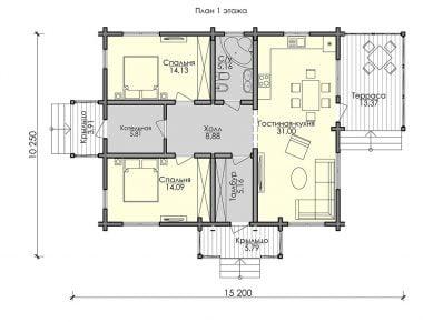 строительство домов из бруса камерной сушки