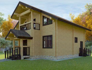 высокие деревянные дома